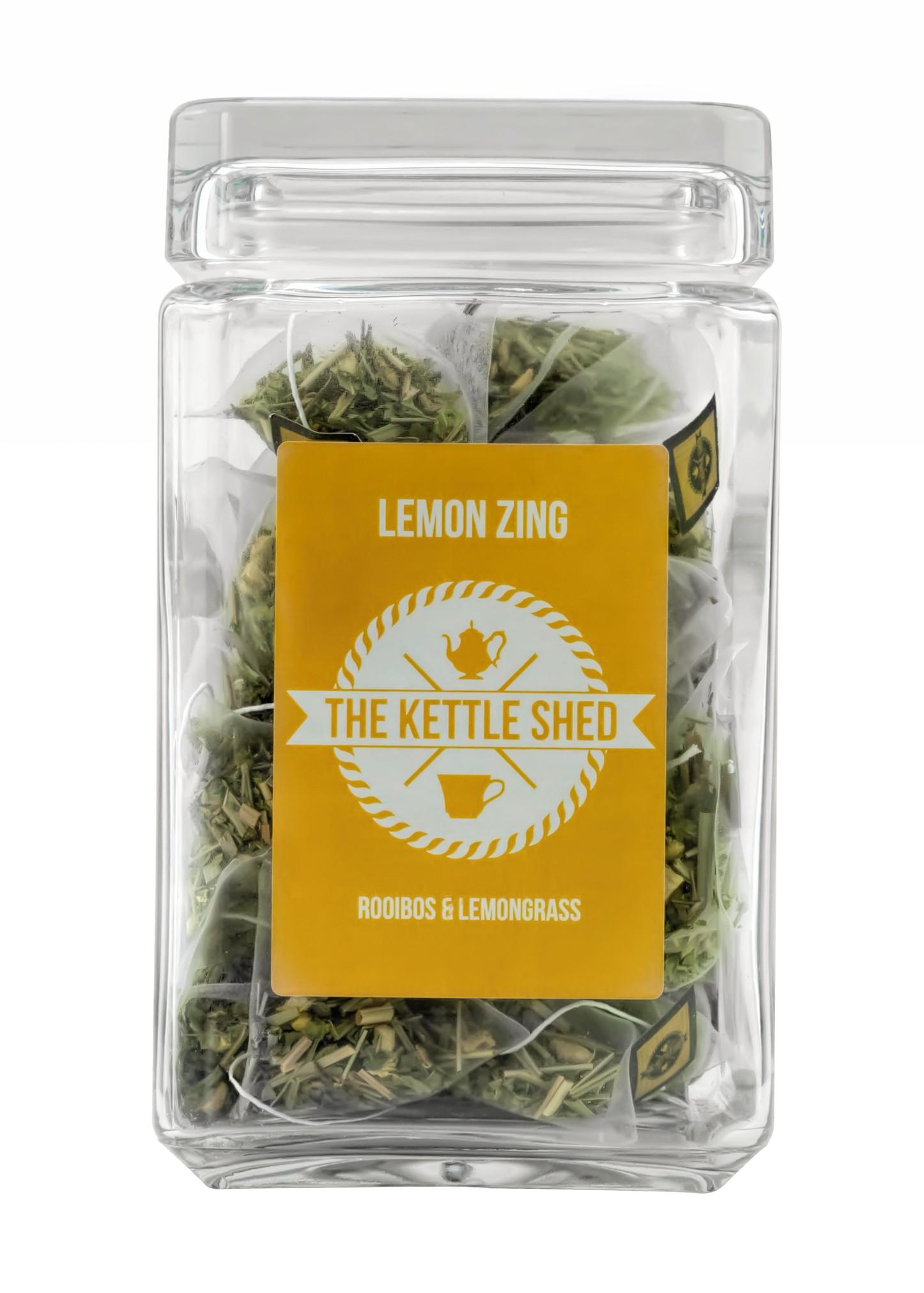 Lemon Zing - Glass Display Jar (without tea)