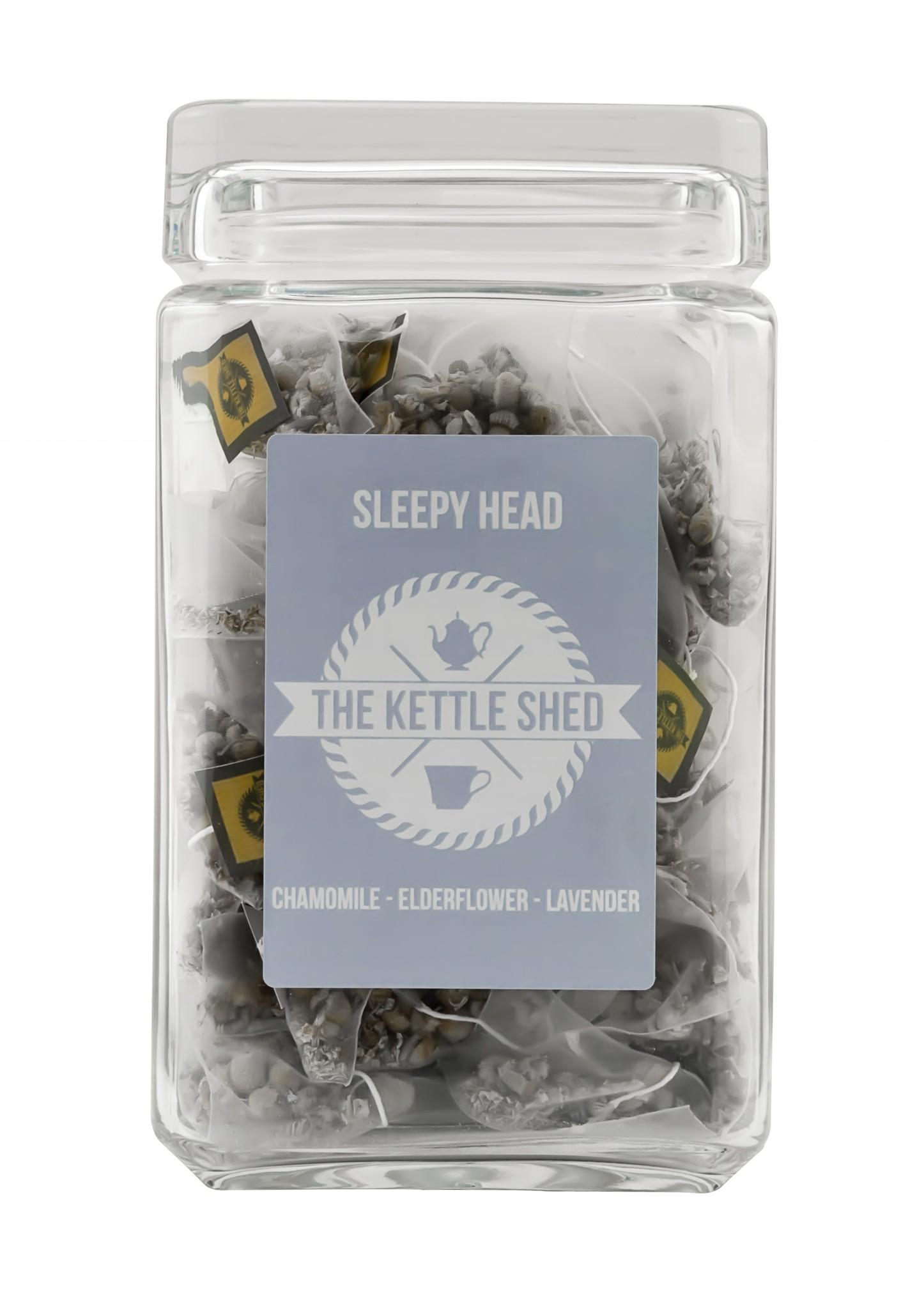 Sleepy head - Glass Display Jar (without tea)