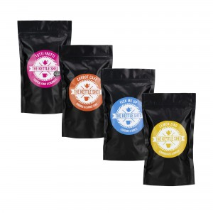 Immunity Booster Tea Bag Bundle: Tutti Frutti (Fruit), Carrot Cake (Herbal), Pick Me Up (Mint), Lemon Zing (Herbal)